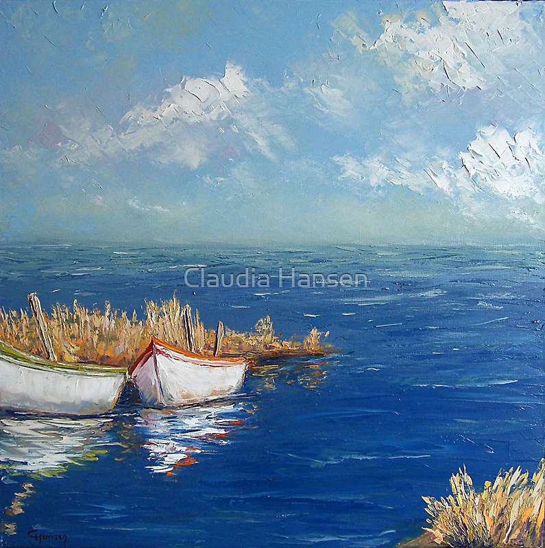 Fishing Boats by Claudia Hansen