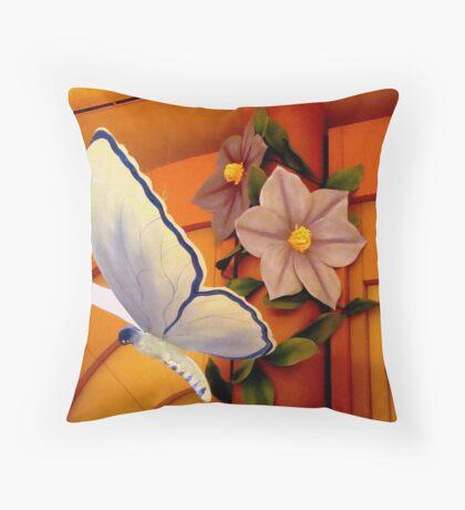 BUTTERFLY of PAPER MACHE Throw Pillow