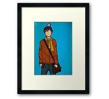 what's your face? Framed Print