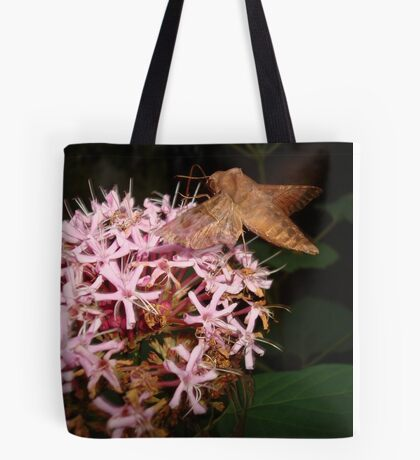 Hummingbird Moth in Clerodendrum Tote Bag