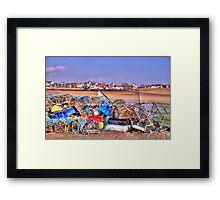 Fishing Debris on The Pier Framed Print