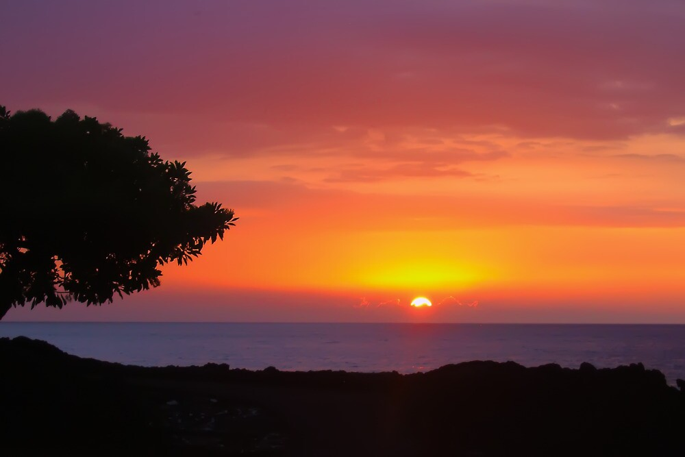 Kona Sunset by Yukondick