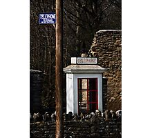 The Blue Sign Photographic Print