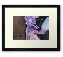 Purple Ribbon Framed Print