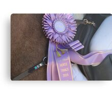 Purple Ribbon Metal Print