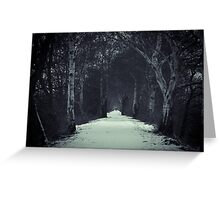 The Long Snowy Path  Greeting Card