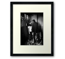One More Question Framed Print