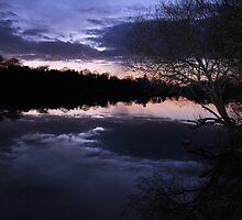 Night Lake by LeoByrne