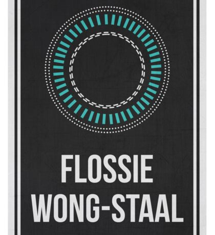 FLOSSIE WONG-STAAL - Women In Science Wall Art Sticker