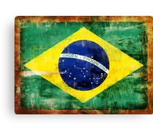 Brazil old painted flag Canvas Print