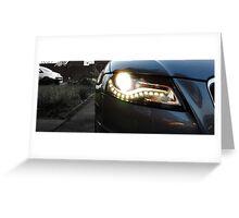 Audi A4 Daytime Running Lights Greeting Card
