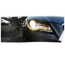 Audi A4 Daytime Running Lights Poster
