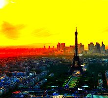 Eiffel Tower in Yellow by Fabstract