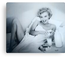 BREAKFAST WITH MARILYN Canvas Print