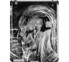 Cyborg Freak Man With Thinning Hair And Eye Creature inverted iPad Case/Skin