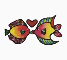 Fishy Love One Piece - Short Sleeve