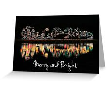 Merry and Bright Water Ocean Christmas Greeting Card