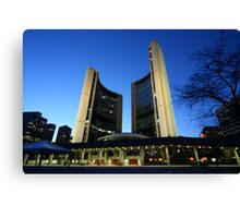 Toronto City Hall  - Against the Night Sky Canvas Print