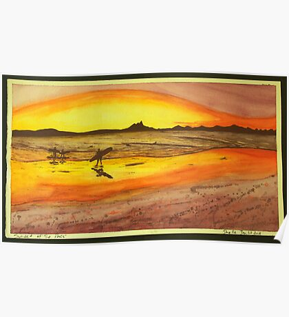 Sunset at the Pass, Byron Bay Poster