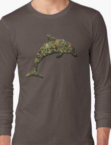 Marijuana Mammal Weed Wale Dank Dolphin  Long Sleeve T-Shirt