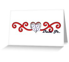 Swirling Hearts Dale Jr Greeting Card