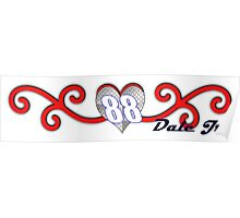 Swirling Hearts Dale Jr Poster
