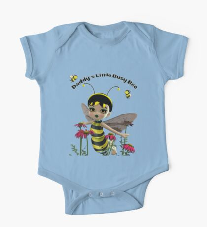 Daddy's Little Busy Bee One Piece - Short Sleeve