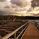 Ahukini Landing at sunset Panorama by Flux Photography