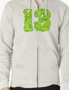 ugly 13 Zipped Hoodie