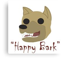 """Happy Bark"" Canvas Print"
