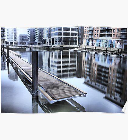 Clarence Dock in Leeds Poster