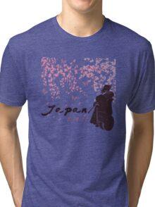 Japan Earthquake Tsunami Relief Cherry Blossoms Tri-blend T-Shirt