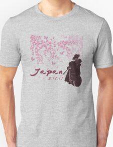 Japan Earthquake Tsunami Relief Cherry Blossoms Dark T-Shirt Unisex T-Shirt