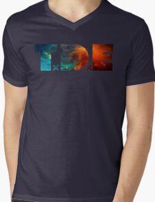 TDE TOP DAWG BLUE AND ORANGE NEBULA Mens V-Neck T-Shirt