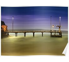 Port Campbell Pier at twilight Poster