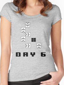 Day 6: Twitch Plays Pokemon (bigger image) Women's Fitted Scoop T-Shirt
