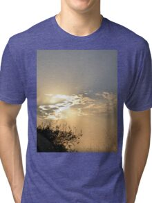 Sunset behind clouds Tri-blend T-Shirt