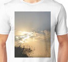 Sunset behind clouds Unisex T-Shirt