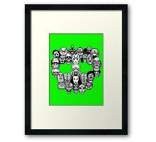 Montser Skull Framed Print