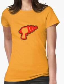 Red 'Muslamic Ray Gun' Womens Fitted T-Shirt
