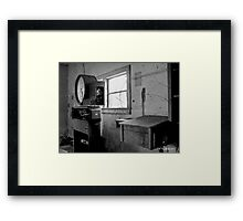 Old Weigh Scale in abandoned Farmer's Market shed Framed Print