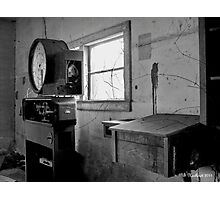 Old Weigh Scale in abandoned Farmer's Market shed Photographic Print
