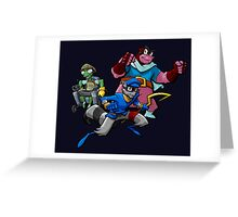 Sly Cooper, Murry and Bentley taking on the world! Greeting Card