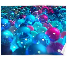 Bubbly Blue Gels Poster