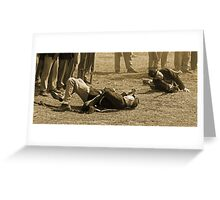 Casualties in sepia Greeting Card