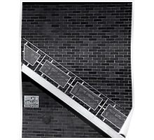 Brick and Stairs Poster