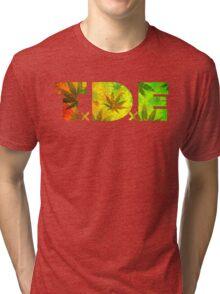 TDE TOP DAWG RASTAFARIAN RED YELLOW GREEN WEED Tri-blend T-Shirt