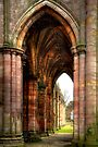 Looking Through the Arches at Melrose Abbey by Christine Smith