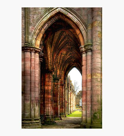 Looking Through the Arches at Melrose Abbey Photographic Print