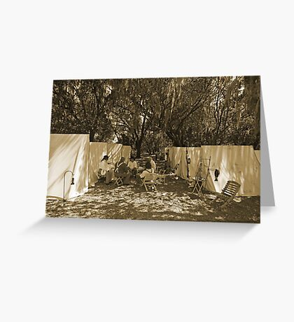 Gatheround in sepia Greeting Card